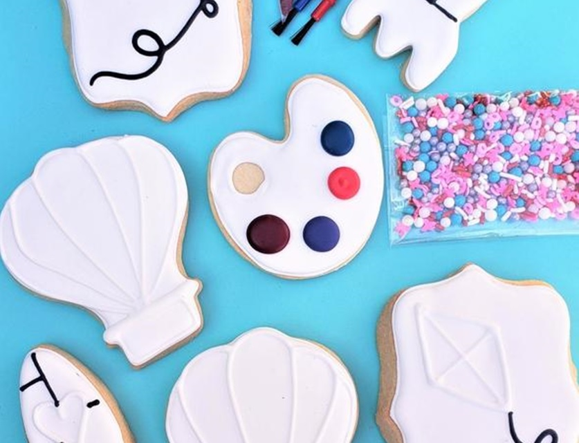 Color my cookie by tart bakery: learn to decorate cookie easy and quick